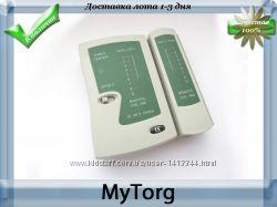 Тестер сети rj45, тестер телефонного кабеля rj11