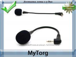 Миниатюрный стерео микрофон для компьютера и ноутбука с гибким кабелем