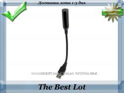 Микрофон usb для компьютера на гибком шнуре
