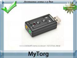 3d usb звуковая карта на 7. 1 канала с регулятором