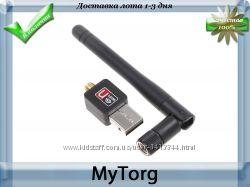 Wifi usb адаптер с антенной, безпроводной