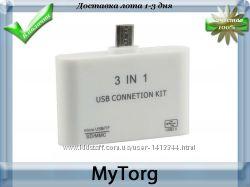 Otg кард-ридер и usb hub, microsd mmc tf