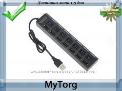 Высокоскоростной концентратор usb 2. 0 adapter hub на 7 портов