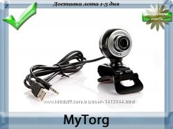 Веб-камера mega hd webcam black and silver