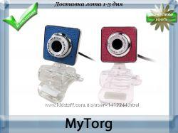 Веб-камера для компьютера webcam with microphone blue and pink
