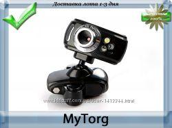 Веб-камера usb black hd webcam с подсветкой