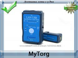 Профессиональный кабельный тестер lan, rj45, cat5 , rj11