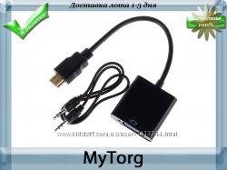 Артикул К1000-930  Описание Адаптер HDMI to VGA служит переходником дл