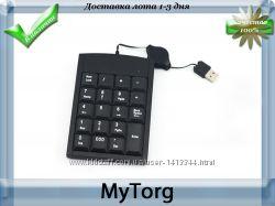 Mini клавиатура для ноутбуков и пк, 19 клавиш