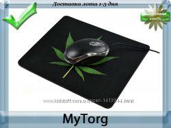 Коврик для мыши green leaf