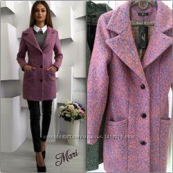 Пальто из шерстяного меланжевого кашемир
