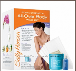 SALLY HANSEN extra strength all-over body wax hair removal kit