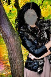 Куртка кожаная курточка кожа мех