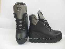 женские ботинки-ботильоны из натуральной кожи