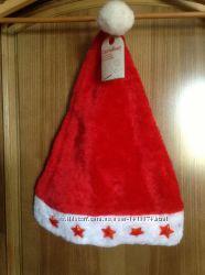 Новые сверкающие шапки Деда Мороза с батарейками Carrefour Франция