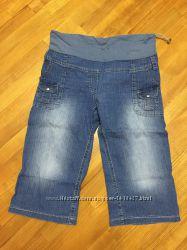 Бриджи, Капри для беременных джинсовые легкие