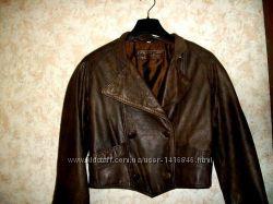 Куртка косуха коричневая кожаная