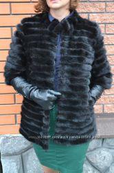 Полушубок норковый. Норковая шуба. пальто меховое. Норка