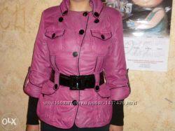 Куртка стеганная на синтапоне с отстегивающимися рукавами