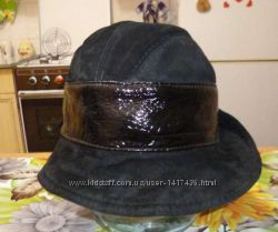 Шляпа, шапка замшевая утепленная