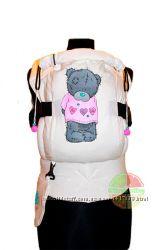 Эрго-рюкзак  Teddy Girl pink  ТМ Citrus Sling рисунок ручной работы