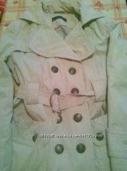 Плащ-пальто бежевое теплое от Зара