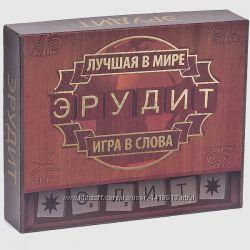 Эрудит-Элит рус. аналог Скрабл Scrabble Настольная интелектуальная игра