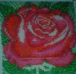 Роза бисером беру заказы
