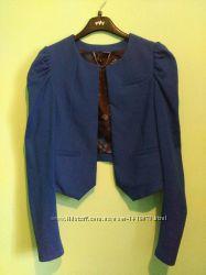 Жакет насыщенного синего цвета H&M