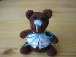Миниатюрный медвежонок, ручная работа, вязаный крючком