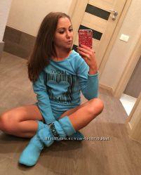 Без предоплат Пижама женская костюм для дома  тапочки сапожки Киев достав