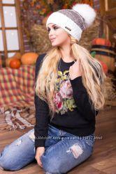 Женская шапка меланж. разные цвета. Опт и розница