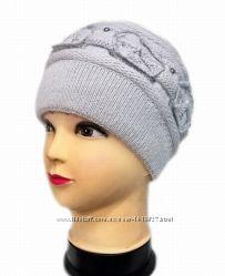 Теплые женские шапки. Разные цвета и модели