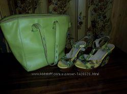 Яркие летние босоножки  сумка в подарок
