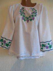 Современная женская вышиванка Виноградная лоза