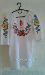 Вышиванка женская льняная с красивыми маками Дамский каприз-2