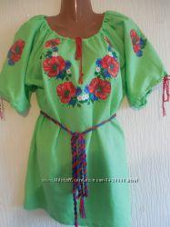 Современная вышиванка женская с маками