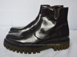 Кожаные мужские ботинки коричневые VERA PELLE