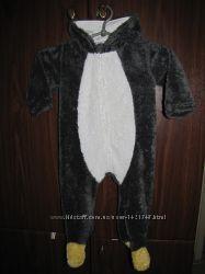 Человечек, комбинезон махровый Пингвин до 18м.