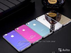 Стекло Зеркальное закаленное на IPhone 5, 5s, 6, 6s, 6plus перед и зад