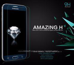 Стекло защитное на Samsung Galaxy S3, 4, 5, 6 А3, 5, 7 Note 2, 3, 4, 5 J5,