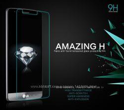 Защитное стекло на LG G4, G3, G2, Flex 1, 2, Leon, Magna