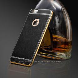 Чехол на iphone айфон 6, 6s, 7, 7s  под кожу, силиконовый