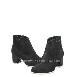 класический ботинок, удобная колодка, каблук 6 см натуральная замша кожа