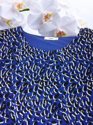 Синяя с леопардом блуза фирмы oasis