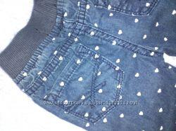 детские джинсы в сердечки Primark