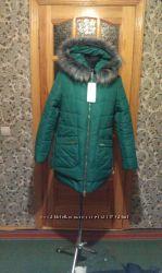 Куртка зелёная с чернобуркой