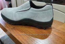 Классные фирменные кожанные мокасины спортивные туфли cotton traders
