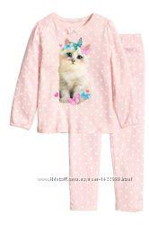 Пижама котик H&M, 110-116