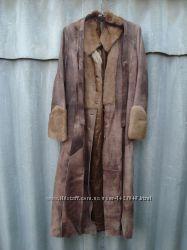 Женский кожаный натуральный плащ-пальто MAX MARA